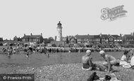Shoreham-By-Sea, Kingston Beach And Kingston Buci Lighthouse c.1960