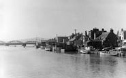 Shoreham-By-Sea, Norfolk Bridge And River Adur c.1950