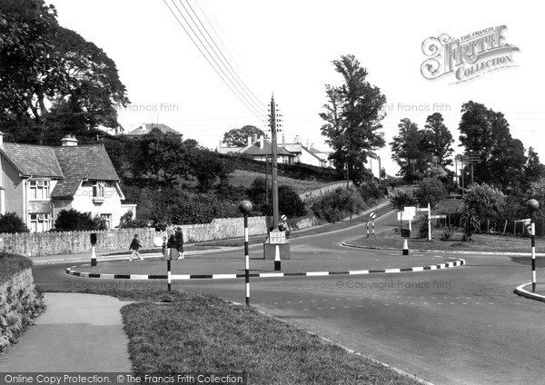 St Austell, The Roundabout c.1955