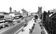 Stockton-On-Tees, High Street And Parish Church Of St Thomas c.1955