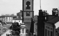 Stockton-on-Tees, Parish Church Of St Thomas From High Street c.1955