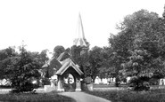 Stoke Poges, St Giles' Church and Lychgate 1895