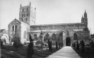 Tewkesbury, Abbey From North c.1880