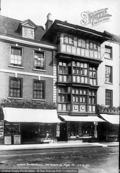 Photo of Tewkesbury, Old House In High Street 1899