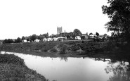 Tewkesbury, The Caravan Park From The River Avon c.1960