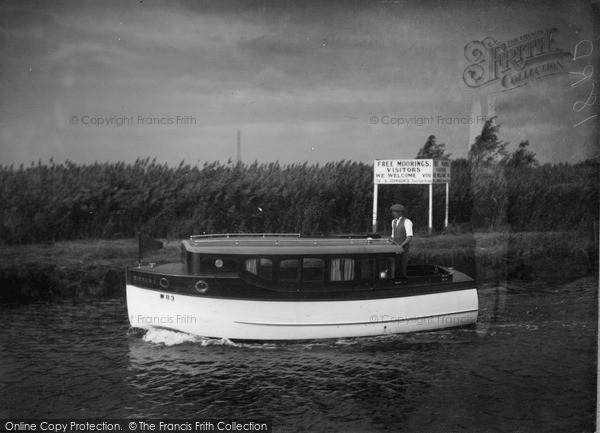 The Broads, Cirrus, Johnson's Boats c.1933