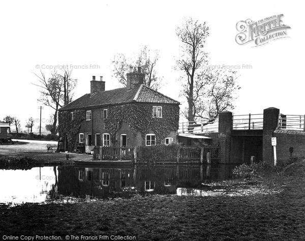 The Broads, Navigable Limit, Wayford Bridge c.1950