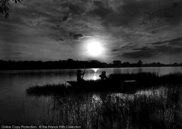 The Broads, Punt Ferry At Sunset c.1934