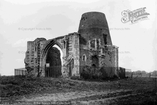 The Broads, St Benet's Abbey Ruins c.1945