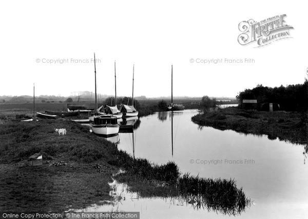 The Broads, The River, Wayford Bridge c.1935