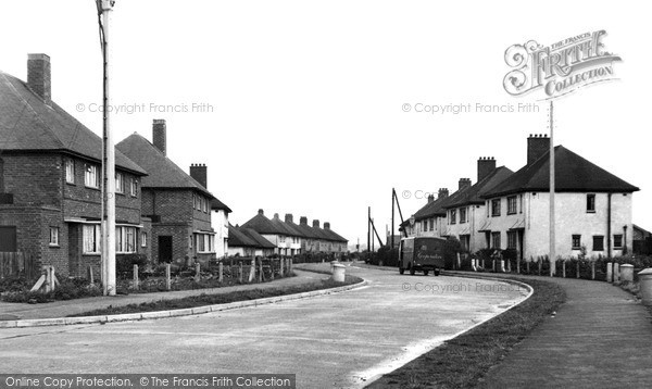 Photo of Thrapston, New Council Estate c1955