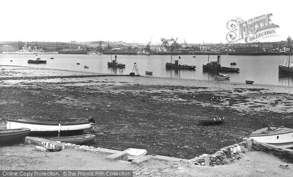 Torpoint, Ferry Beach c.1955