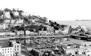 Torquay, the Harbour and Vane Hill c1955