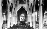 Trowbridge, St James's Church Interior 1900