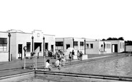 Trowbridge, the Swimming Pool c1955