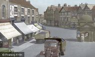 Uttoxeter, Market Place 1949