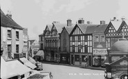 Uttoxeter, The Market Place c.1955
