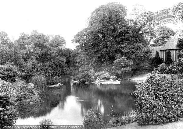 Waddesdon, The Manor And Lake 1897