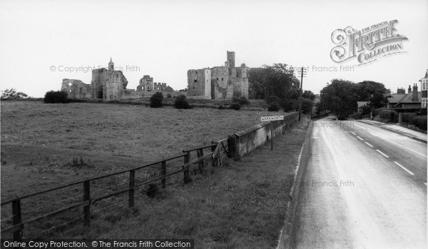 Warkworth, Castle From The Main Road c.1965