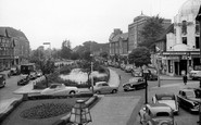 Watford, the Pond on the High Street c1955