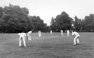 Welling, Cricket In Danson Park c.1955
