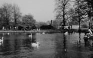 Welling, The Lake, Danson Park c.1955