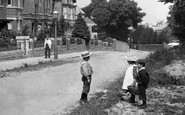 Photo of Wellington, Children outside Blackdown School 1907