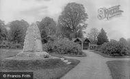 Photo of Wellington, the Park War Memorial 1925