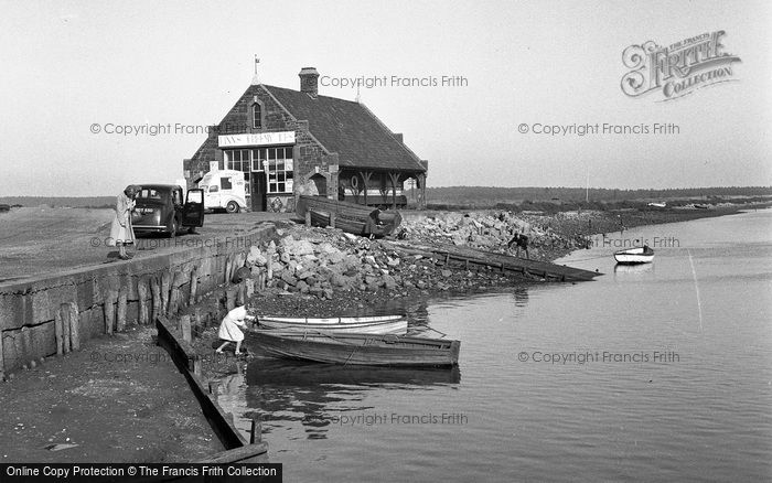 Wells Next The Sea Old Boat House And Embankment 1950