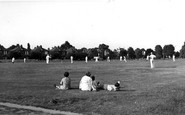 Photo of Weston Green, Cricket on the Green c1955
