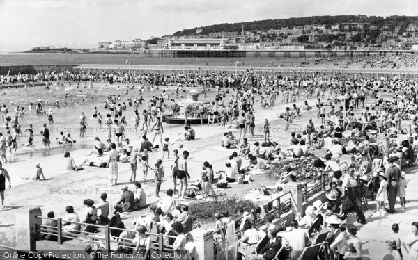 Weston super mare view from swimming pool francis frith for Camping weston super mare with swimming pool