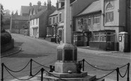 Photo of Whitwell, Memorial and High Street c1960