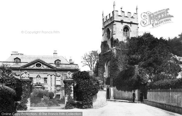 Widcombe, Old Church And Vicarage 1887
