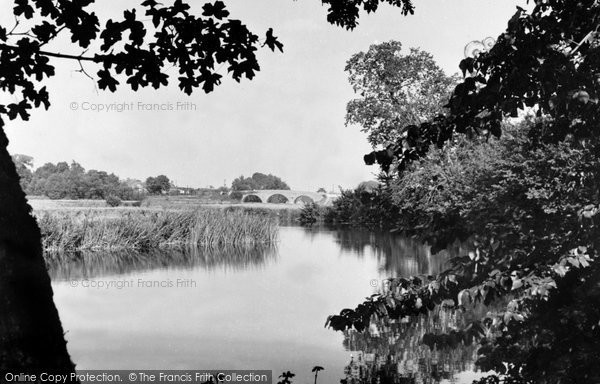 Wimborne, The River Stour And Canford Bridge c.1955