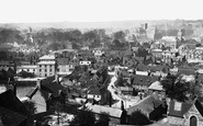 Winchester, From St Giles Hill 1886