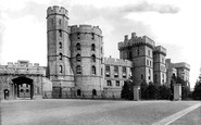 Windsor, Castle, South Front 1895