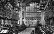Windsor, Castle, St George's Chapel, Choir East 1895