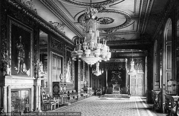 Windsor, Castle, The Throne Room 1923