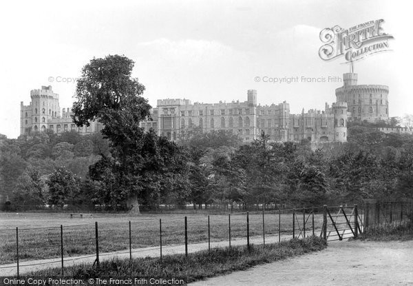 Windsor The Castle From Home Park 1895