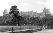 Windsor, The Castle From Home Park 1895