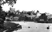 Windsor, The Castle From The River Thames 1906