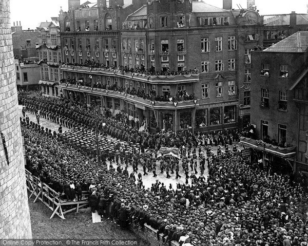 Photo of Photo of Windsor, The Funeral Of King Edward Vii 1910