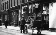 Wrexham, A Cart In Hope Street 1903