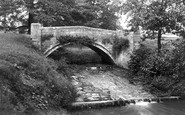 Wrexham, Erddig,  Bridge In The Park 1895
