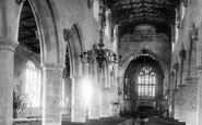 Wrexham, St Giles' Church Interior 1895