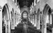 Wrexham, St Giles' Church Nave From Organ 1895