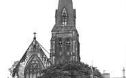 Wrexham, St Mary's Church c.1955