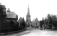 Wrexham, The Cemetery, Lodge And Entrance 1895
