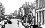Wrexham, The High Street c.1955