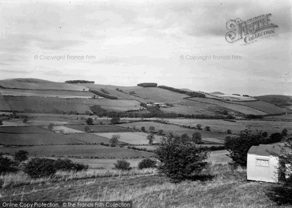 Yetholm, English Hills From Scotland c.1955